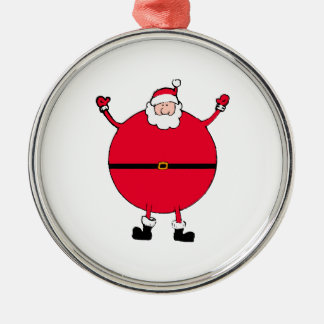 Julbegrepp: Öppen Santa ärmarsned boll happly Rund Silverfärgad Julgransprydnad