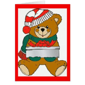 Julbjörnkort Hälsningskort
