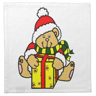 Julbjörnservett Tygservett