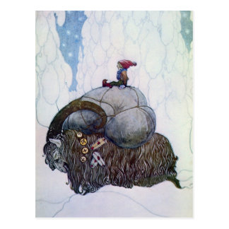 Julbocken - julgeten vykort