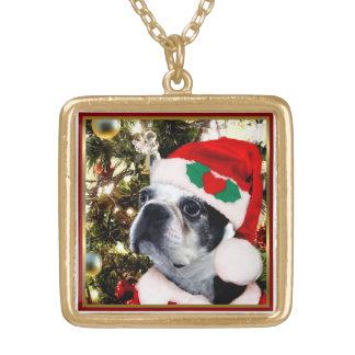 JulBoston terrier Guldpläterat Halsband
