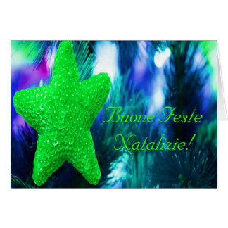 JulBuone Feste Natalizie grön stjärna mig Hälsningskort