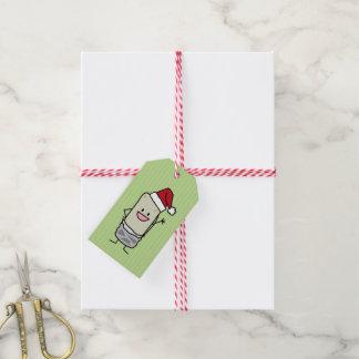 JulBurrito som vinkar helgdag för hejSanta hatt Presentetikett