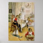 Juldagen i barnkammare 1894 poster