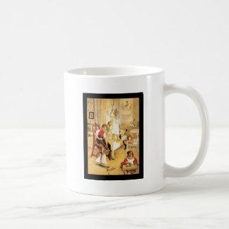Juldagen i barnkammare kaffemugg