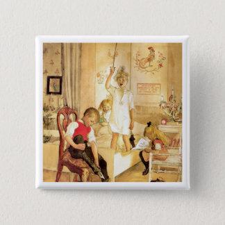 Juldagen i barnkammare standard kanpp fyrkantig 5.1 cm