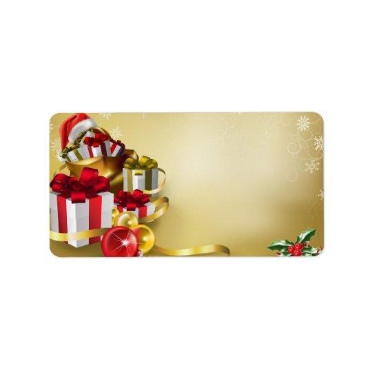 Juldesign Adressetikett