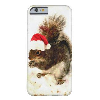 Julekorre med den Santa hatten i snö Barely There iPhone 6 Skal