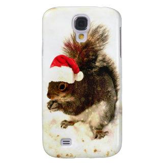 Julekorre med den Santa hatten i snö Galaxy S4 Fodral