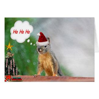 Julekorreordstäv Ho Ho Ho Hälsningskort