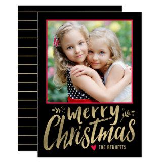 Julen älskar det REDIGERBARA kortet för 12,7 X 17,8 Cm Inbjudningskort