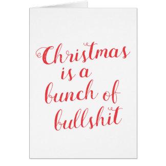 Julen är en grupp av skitsnack hälsningskort