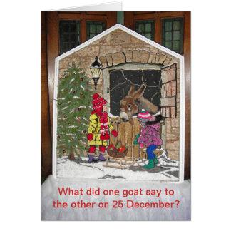 Julen är för ungarna hälsningskort