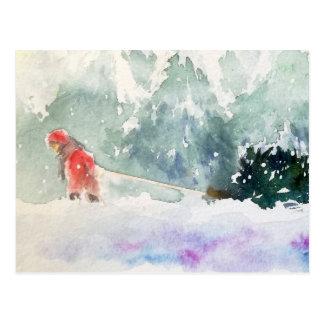 Julen är kommande vykort