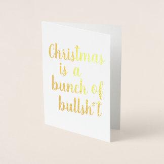 Julen är tjuren - typografisk kort