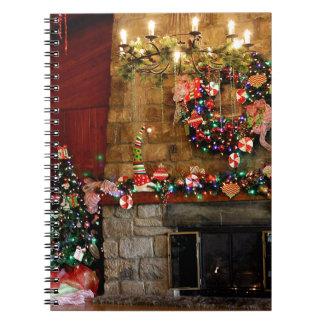 Julen avfyrar ställeplats anteckningsbok