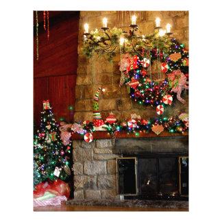 Julen avfyrar ställeplats brevhuvud