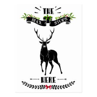Julen bocken stoppar här hjort vykort