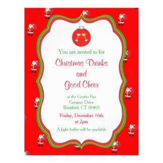 Julen dricker & den bra jubelinbjudan reklamblad