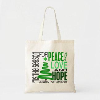 Julen för fredkärlekhopp semestrar cerebral Palsy Tygkassar