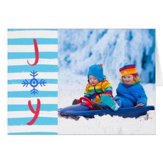 Julen för Snowflakeglädje | Julhälsningar kortet Hälsningskort
