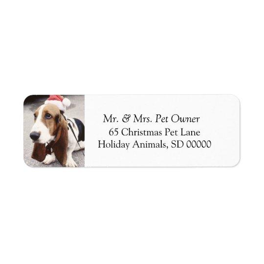 Julen förföljer gör helgdagskortadressetiketten returadress etikett