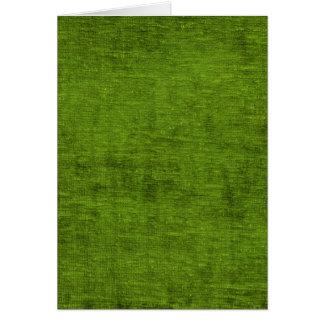 Julen görar grön struktur för Chenilletyg Hälsningskort