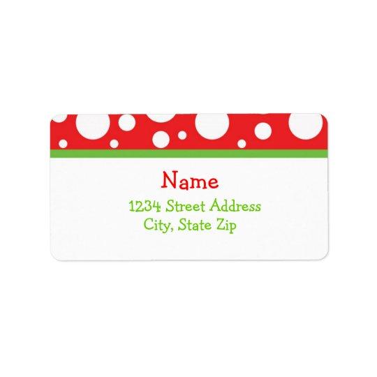 Julen pricker adressen Lables Adressetikett