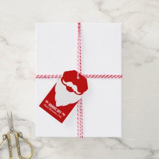 Julen räcker av märkre för gåva för det santa presentetikett