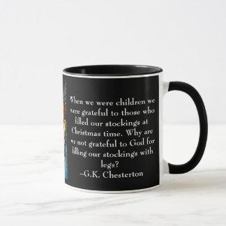 Julen rånar med det G.K. Chesterton Mugg