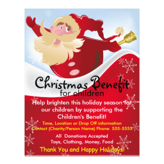 Julen Santa gynnar för barnreklamblad Reklamblad