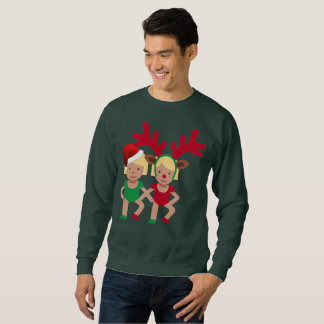 julen santa kopplar samman emojimanar tröja