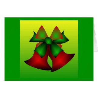 Julen sätta en klocka på I Hälsningskort