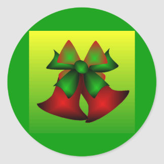 Julen sätta en klocka på I Runt Klistermärke