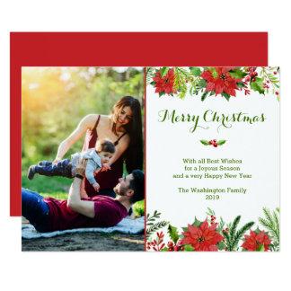 Julen semestrar det röda 12,7 x 17,8 cm inbjudningskort