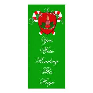 Julen skyddar bokmärken reklamkort