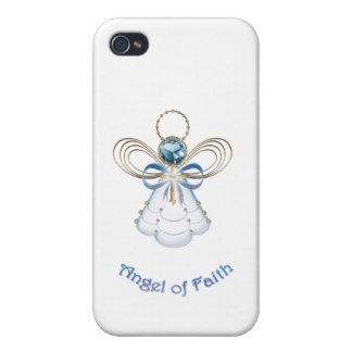 Julen slösar Filigree ängel av tro iPhone 4 Skydd