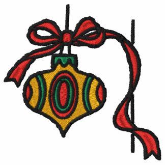Julen smyckar den broderade skjortan