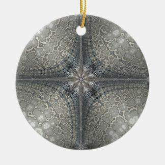 Julen smyckar med en stjärna och en Nativity Julgransprydnad Keramik