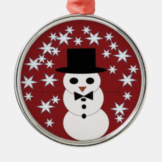 julen smyckar, snögubben, julgransprydnad metall
