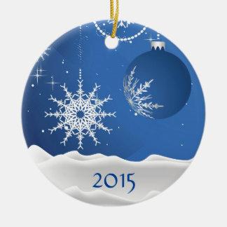 Julen Snowflake & bollprydnaden tillfogar namn Julgransprydnad Keramik