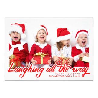 Julen som att skratta räcker, skrivar det märkte 12,7 x 17,8 cm inbjudningskort