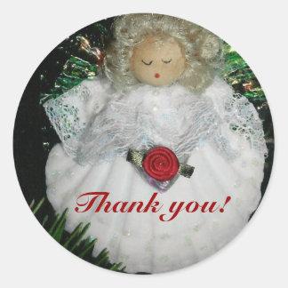 Julen tackar dig runt klistermärke