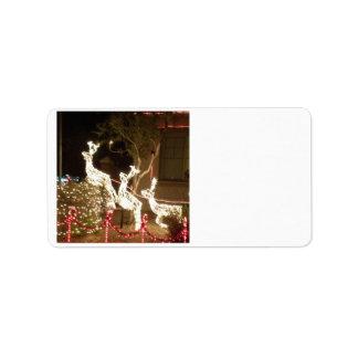 Julen tänder adressetiketten adressetikett