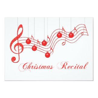 Julen uttrycker högläsningen 12,7 x 17,8 cm inbjudningskort