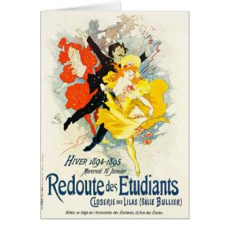 Jules Cheret art nouveaukort Hälsningskort