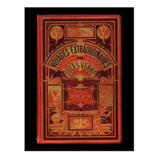 Jules Verne utöver det vanliga resabokomslag Vykort