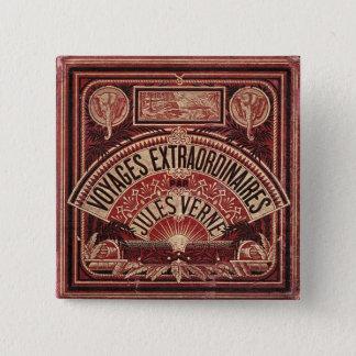 "Jules Vernes ""RESOR EXTRAORDINAIRES "", Standard Kanpp Fyrkantig 5.1 Cm"