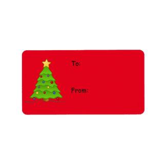 Juletiketter för helgdaggåvor, skapar din! adressetikett