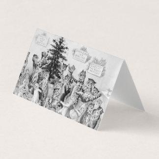 Juletiketter för kattälskare av Louis Wain Visitkort